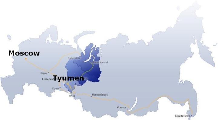 Tyumen map